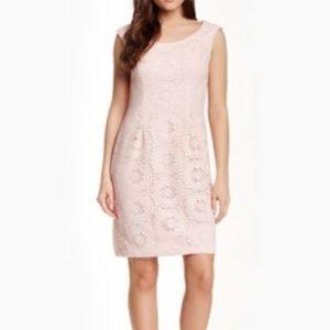 Adrianna Papell Crochet Sheath Dress PETAL SIZE 8